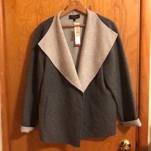 Talbots dk gray wool blazer w/lt grey interior.